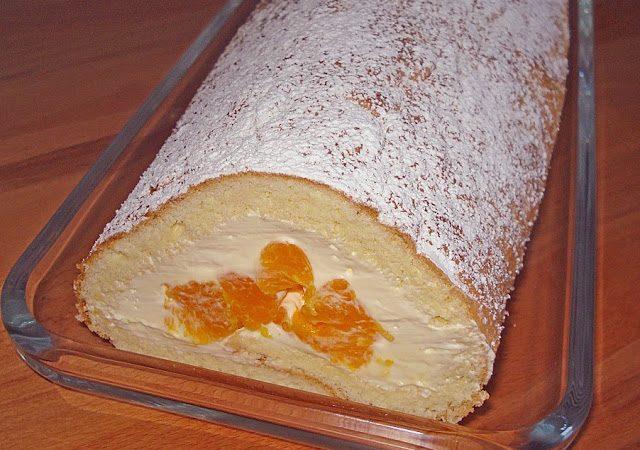 Mandarinenquark – Biskuitrolle